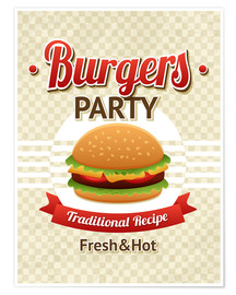 Póster  Hamburger Party