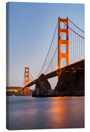 Lienzo  ?San Francisco Golden Gate Bridge at sunset