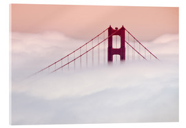 Cuadro de metacrilato  Golden Gate Bridge in the clouds