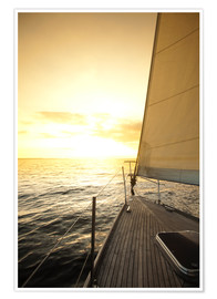 Póster  Sailboat in the open sea