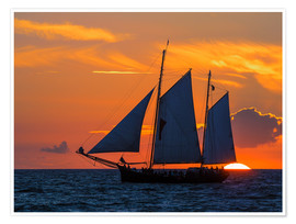 Póster Hanseatic sailing ship