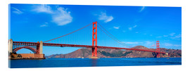 Cuadro de metacrilato  panoramic view of Golden Gate Bridge