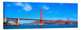 Lienzo  panoramic view of Golden Gate Bridge
