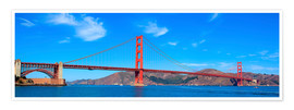 Póster  panoramic view of Golden Gate Bridge