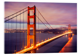 Cuadro de metacrilato  The Golden Gate Bridge by night, San Francisco