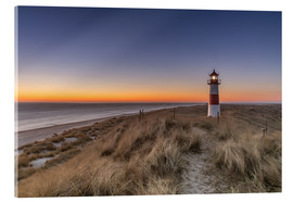 Cuadro de metacrilato  Sylt island - Lighthouse Sylt Ost (Sunrise) - Achim Thomae