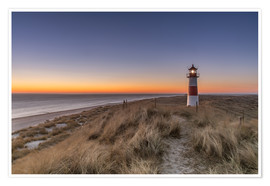 Póster  Sylt island - Lighthouse Sylt Ost (Sunrise) - Achim Thomae