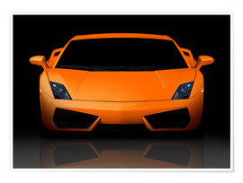 Póster  Bright orange supercar