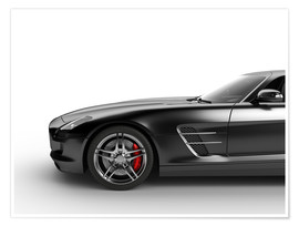 Póster Sports car in black
