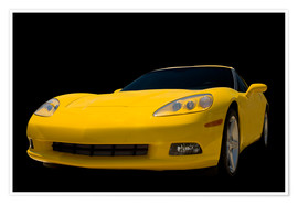 Póster  Yellow Corvette