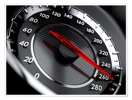 Póster  car speedometer
