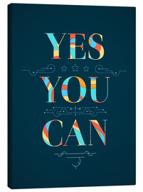 Lienzo  Yes you can - Typobox