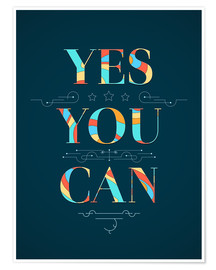 Póster  Yes you can - Typobox