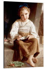 Cuadro de aluminio  The slurry, little girl eating his soup - William Adolphe Bouguereau