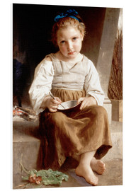 Cuadro de PVC  The slurry, little girl eating his soup - William Adolphe Bouguereau