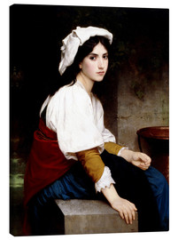 Lienzo  Italian girl at a fountain - William Adolphe Bouguereau