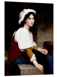 Cuadro de PVC  Italian girl at a fountain - William Adolphe Bouguereau
