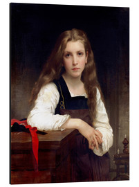 Cuadro de aluminio  The small spinner - William Adolphe Bouguereau