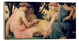 Cuadro de madera  Le Printemps - William Adolphe Bouguereau
