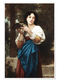 Póster  In the vine - William Adolphe Bouguereau