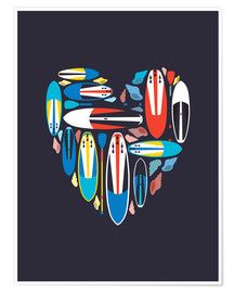 Póster  Surfboard Love
