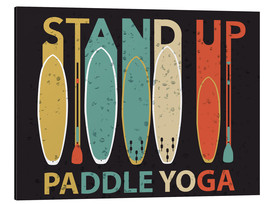 Cuadro de aluminio  Stand up paddle yoga - Typobox