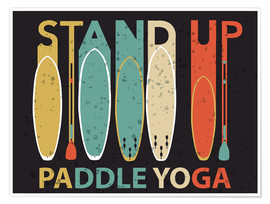 Póster  Stand up paddle yoga - Typobox