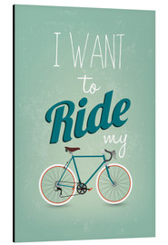 Cuadro de aluminio  I want to ride my bike - Typobox
