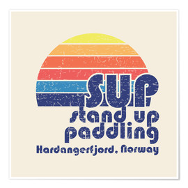 Póster  Stand up paddling in Norway - Typobox