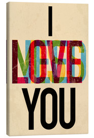 Lienzo  I love you, i need you - Typobox