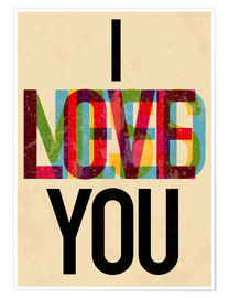 Póster I love you, i need you