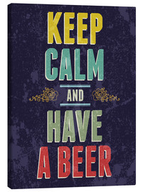 Lienzo  Keep calm and have a beer - Typobox