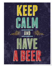 Póster  Keep calm and have a beer - Typobox
