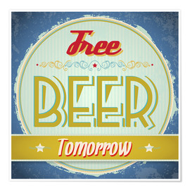 Póster  Free beer tomorrow