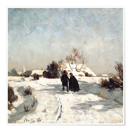 Póster  New Year's Day - Otto Modersohn
