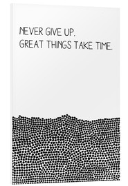 Cuadro de PVC  Never Give Up - SMUCK