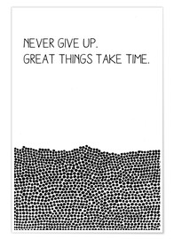 Póster  Never Give Up - SMUCK
