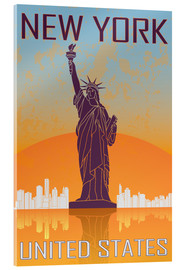 Cuadro de metacrilato  New York - Statue of Liberty