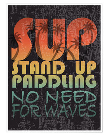 Póster  Stand up paddling