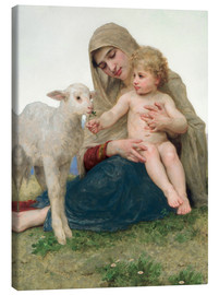 Lienzo  Virgen con cordero - William Adolphe Bouguereau