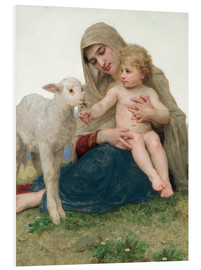 Cuadro de PVC  Virgen con cordero - William Adolphe Bouguereau