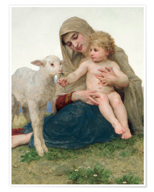 Póster  Virgen con cordero - William Adolphe Bouguereau
