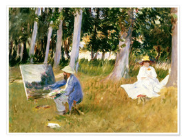 Póster painting Claude Monet, near the forest