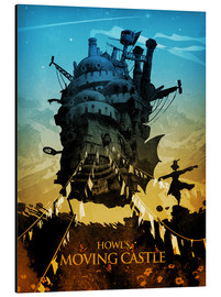 Cuadro de aluminio  Howl's Moving Castle 2 (El castillo ambulante) - Albert Cagnef