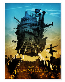 Póster Howl?s Moving Castle 2 colors18x24 2