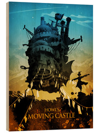 Cuadro de madera  Howl's Moving Castle 2 (El castillo ambulante) - Albert Cagnef
