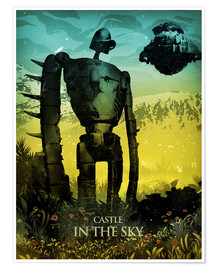 Póster  Castle in the Sky (El castillo en el cielo) - Albert Cagnef