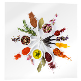 Metacrilato  Spices and herbs clock