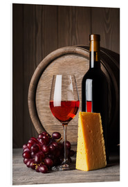 Forex  Red wine with cheese and grapes