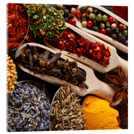 Metacrilato  Colorful spices and herbs